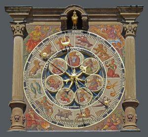 Une très vieille horloge nous rappelle qu'il fut un temps où on avait davantage conscience du temps qui s'écoule, au rythme des heures, des jours et des saisons